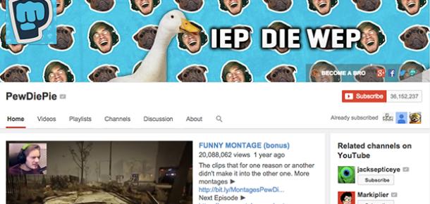 """YouTube'un örnek alınası yıldızı """"PewDiePie"""""""