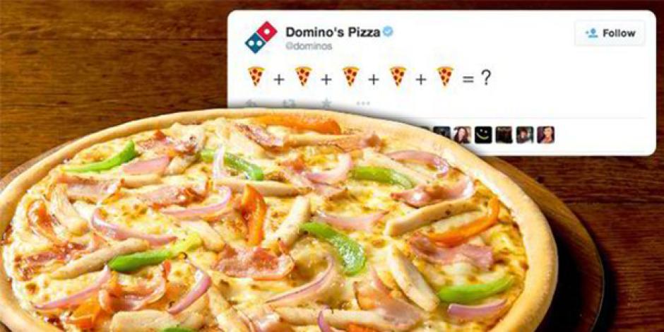 Domino's pizza emoticon'u içeren tweet'le sipariş almaya hazırlanıyor