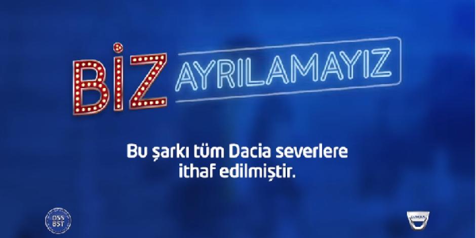 """Dacia """"Biz Ayrılamayız"""" kampanyasıyla Türkiye'nin en büyük korosunu oluşturmayı hedefliyor"""
