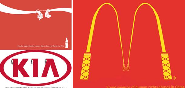 2022 Katar Dünya Kupası için dikkat çeken farkındalılık eylemi: Sponsor markaların logoları yeniden tasarlandı