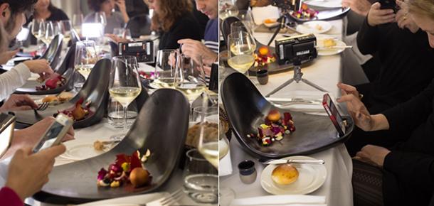 Yemekler için selfie çubuğu: Instagram fotoğrafları için özel üretim tabaklar