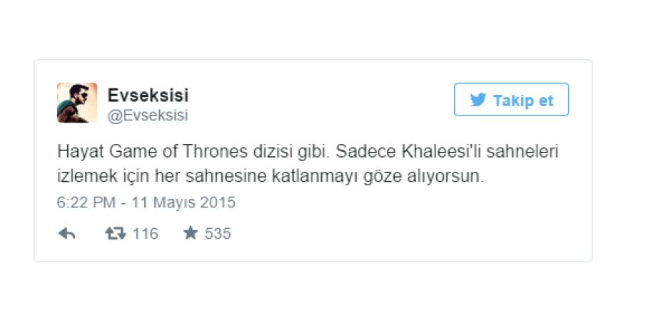 Game Of Thrones ile ilgili tespit gibi tespit dedirten 7 Tweet