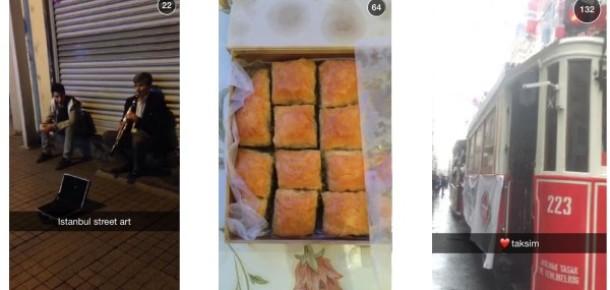 Snapchat'te İstanbul paylaşımları