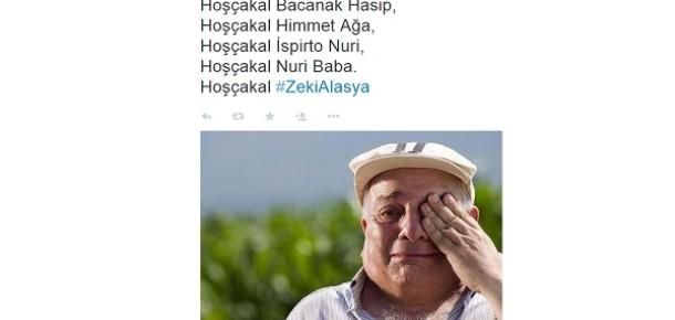 Zeki Alasya'nın vefatının ardından sayısız Tweet paylaşıldı