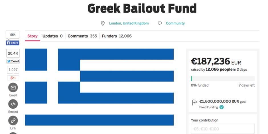 Yunanistan kitle fonlamasıyla kurtarılabilir mi?