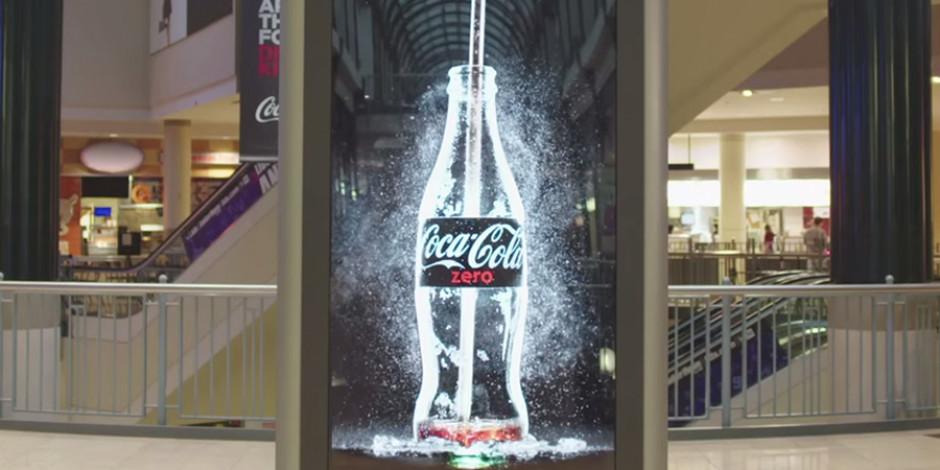 Coca Cola Zero'dan dikkat çeken 360 derece iletişim kampanyası: İçilebilir reklam