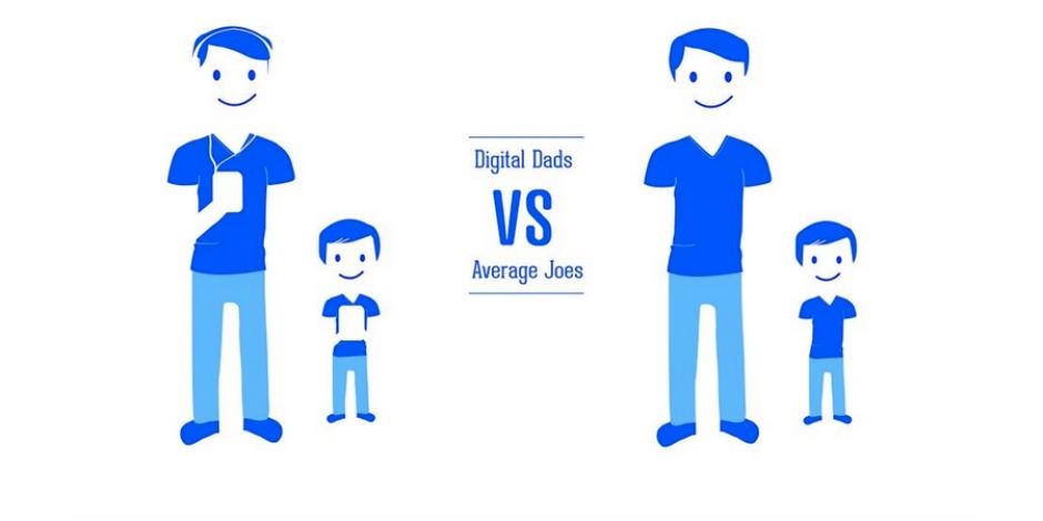 Dijital babalar ortalama babalara karşı [infografik]
