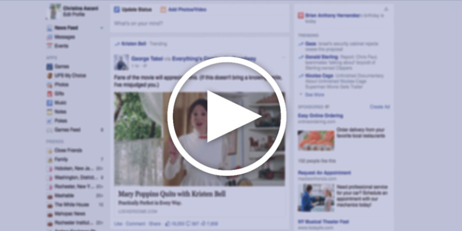 Facebook'ta izlediğiniz videolar artık sol tarafta sabitleniyor