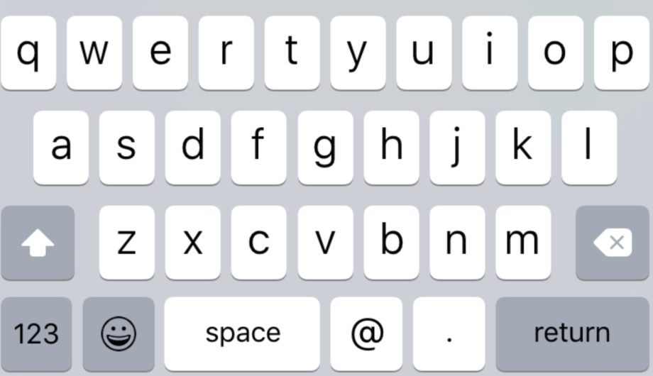 küçükharf klavyesi