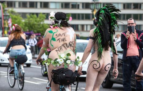 World Naked Bike Ride World Naked Bike Ride, London, Britain - 13 Jun 2015  (Rex Features via AP Images)