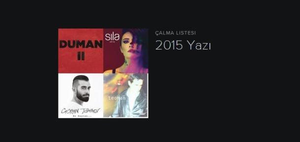 Spotify Türkiye'nin yaz için listelediği 20 şarkı