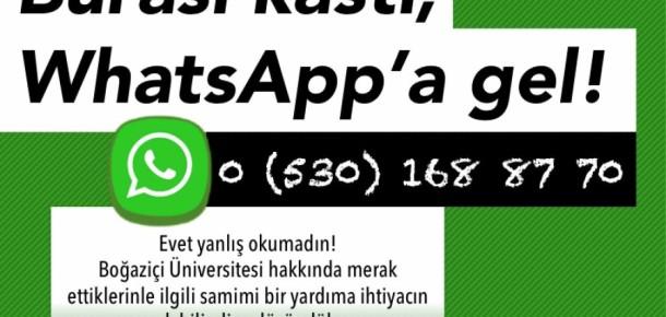 Boğaziçi Üniversitesi, adayların sorularını Snapchat, WhatsApp ve Periscope'tan yanıtlıyor