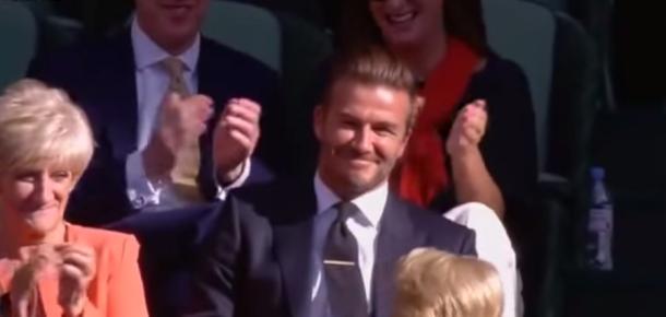 Wimbledon turnuvasında Beckham şaşırttı