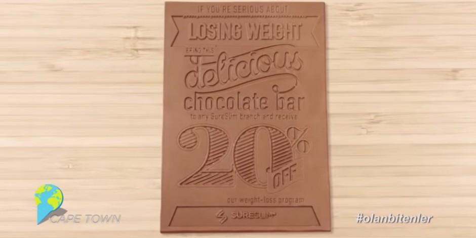Çikolatadan yapılmış el ilanları ile Sosyal Medya'da #olanbitenler