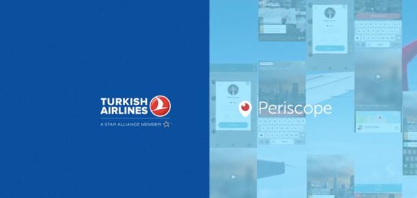 Türk Hava Yolları'nın uçuş esnasında canlı yayın yaptığı Periscope paylaşımı