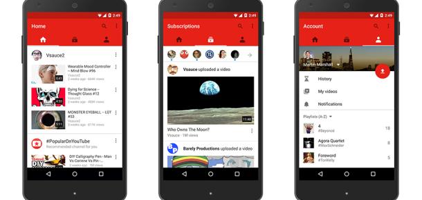 YouTube'un mobil uygulaması ve mobil arayüzü güncellendi