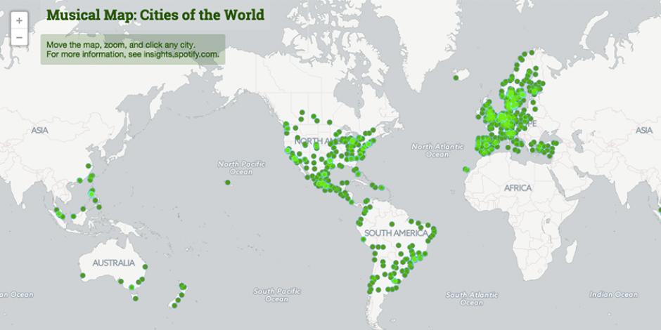 Spotify Music Map: Hangi şehirde en fazla hangi şarkı dinleniyor?