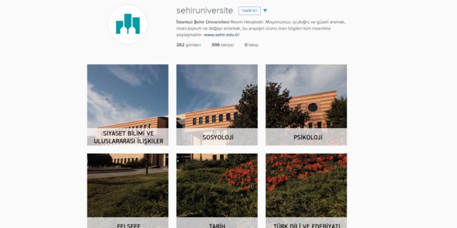 İstanbul Şehir Üniversitesi kurumsal Instagram hesabını tercih rehberine çevirdi