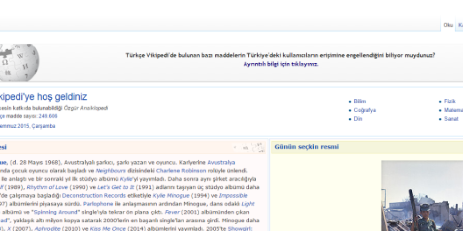 Vikipedi'nin bazı içeriklerine erişim engeli devam ediyor