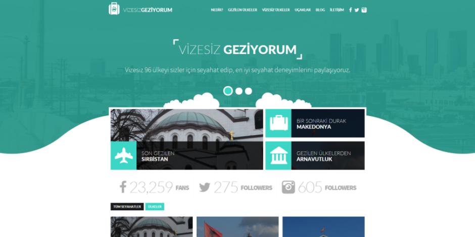 Vizesiz ülkeleri merak edenler için içerik platformu: vizesizgeziyorum.com