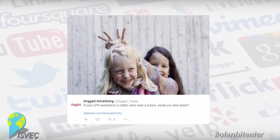 Çocuk sesli navigasyon ile sosyal medyada #olanbitenler