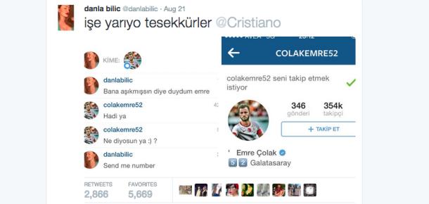 Ronaldo'nun yolunda Instagram'da futbolcuları trolleyen kullanıcı: Danla Bilic