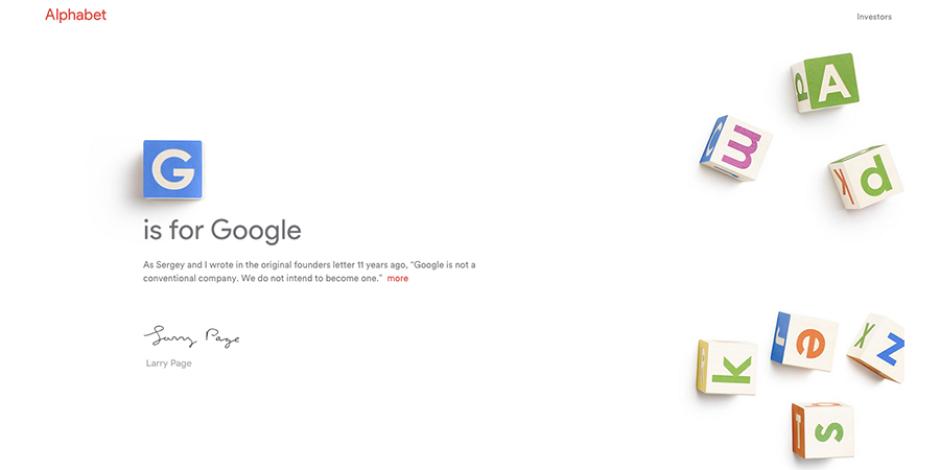 Google'dan da büyüğü var artık: Alphabet
