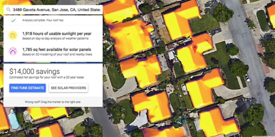 Google'ın çatınıza gelen güneş ışınını ölçtüğü yeni projesi