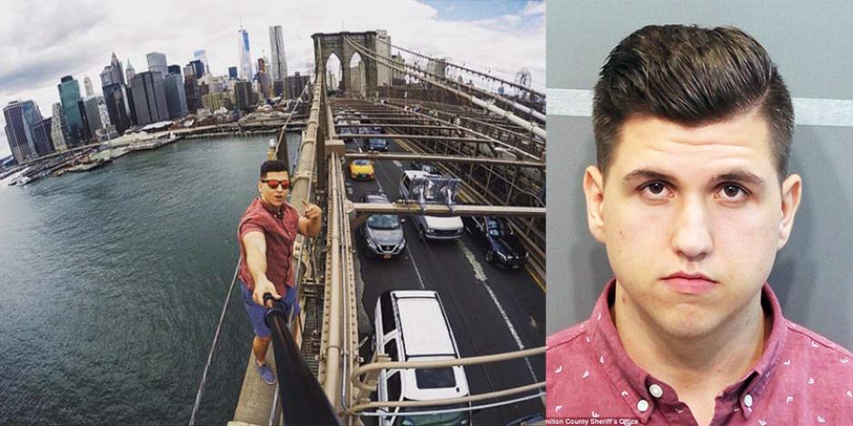 Köprüde çektiği selfie hapse girmesine sebep oldu