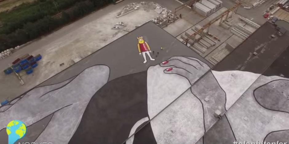 Dünyanın en büyük muralı ile sosyal medyada #olanbitenler