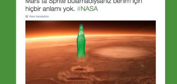 Mars'ta su bulunması üzerine markaların gerçek zamanlı iletişim çalışmaları