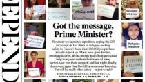 The Independent gazetesimülteciler için kampanya başlattı