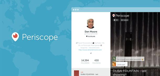 Periscope, web profillerini yayına aldı