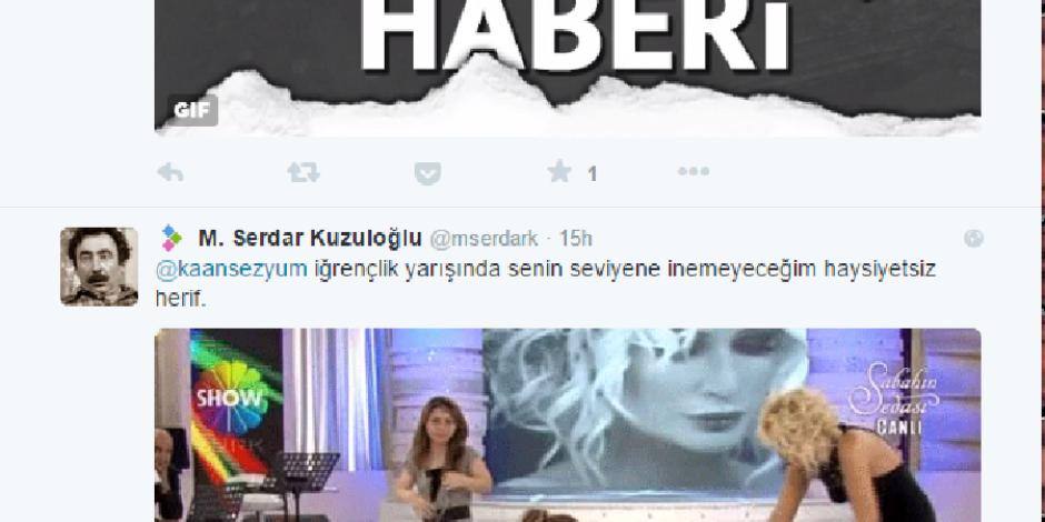 Twitter'a iyi ki GIF gelmiş dedirten Kaan Sezyum, Serdar Kuzuloğlu atışması