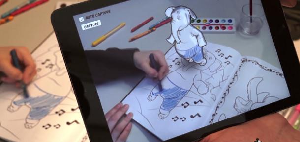 Disney'in çizimlere hayat veren 3 boyutlu boyama kitabı