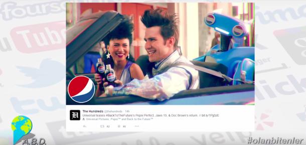 """Pepsi'nin """"Geleceğe Dönüş"""" filmindeki Pepsi Perfect projesi ile sosyal medyada #olanbitenler"""