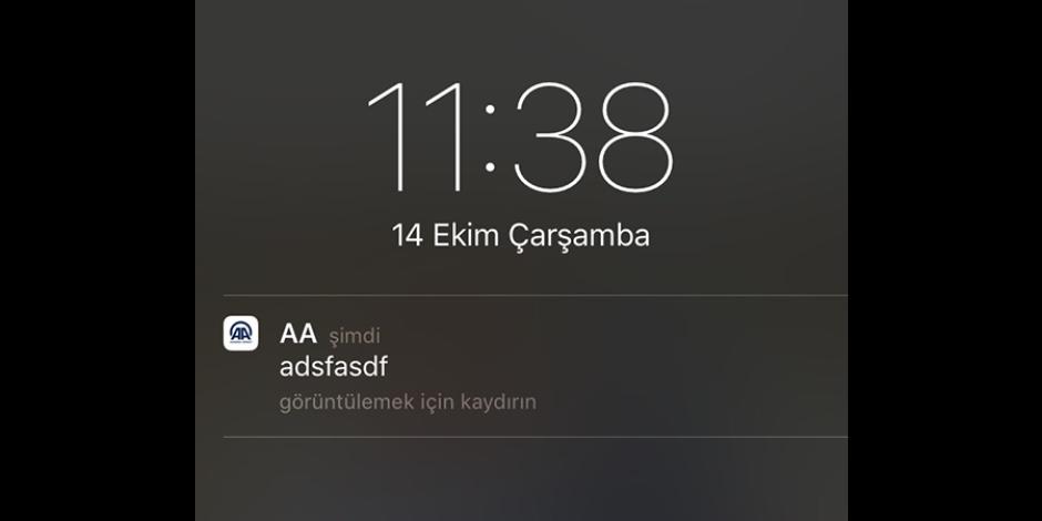 Anadolu Ajansı'nın gönderdiği yanlış bildirime sosyal medyadan eğlendiren tepkiler