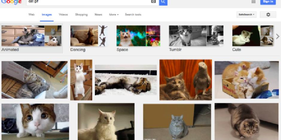 Google arama sonuçlarında otomatik olarak animasyonlu GIF'leri görebilirsiniz