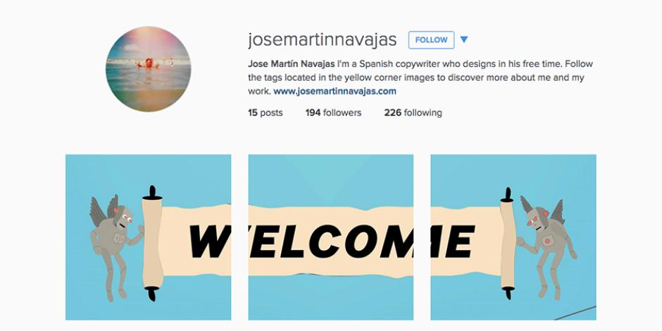 Instagram'da yaratıcı bir tasarım portföyü
