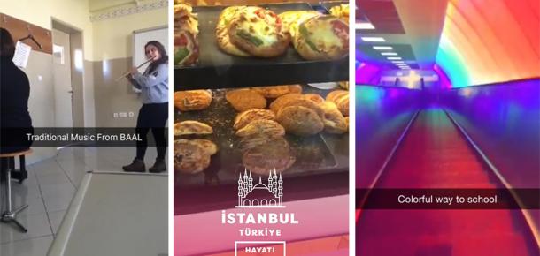 Snapchat, İstanbul'da canlı yayında