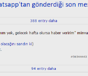"""Ekşi Sözlük yazarlarından """"hoşlanılan kızın WhatsApp'tan gönderdiği son mesaj"""""""