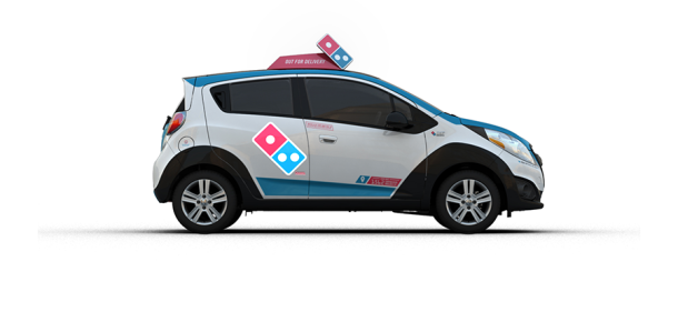 Domino's'tan şaşırtan pizza dağıtım aracı