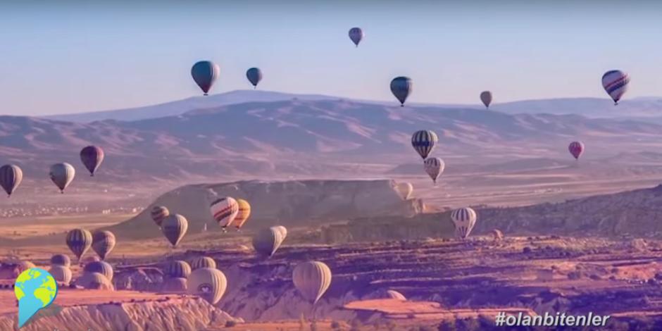 Kapadokya'daki dev projeksiyon yansıtma ile sosyal medyada #olanbitenler