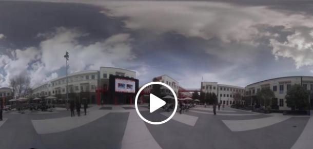 Mark Zuckerberg, Facebook kampüsünün 360 derece izlenebilen videosunu paylaştı