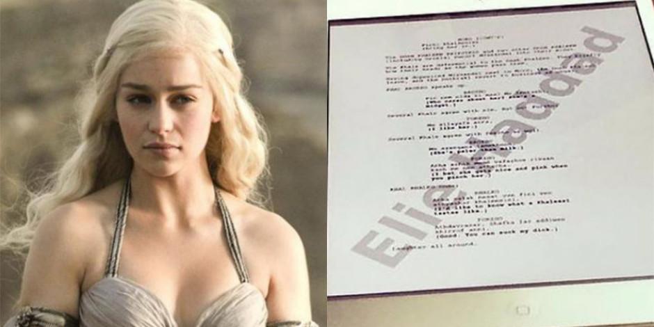 Game of Thrones oyuncusu Instagram'a kazara senaryo sayfası sızdırdı