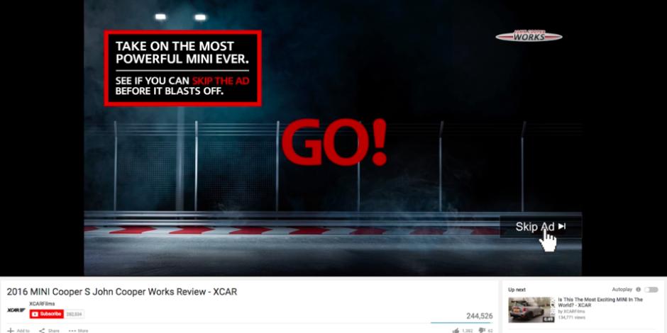 Mini'nin YouTube'da reklamı izlettiren yarışı