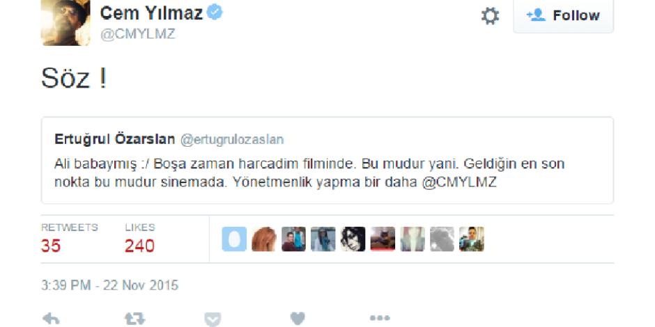 Cem Yılmaz, Twitter'da Ali Baba ve 7 Cüceler filmi ile ilgili eleştirileri yanıtladı