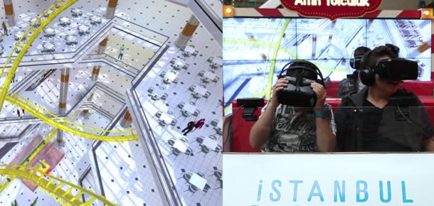 Cevahir AVM'de bir sanal gerçeklik deneyimi