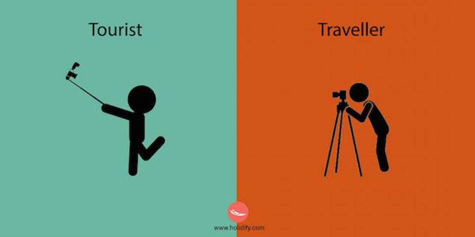 Turist ve gezgin arasındaki farkı gösteren 6 görsel