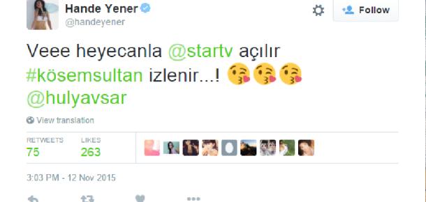 Beklenen dizi Kösem Sultan'ın sosyal medya yansımaları
